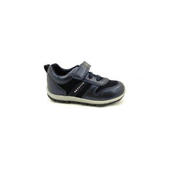 GEOX GIRLS DIAMANTE VEL LACE SHOE - NAVY