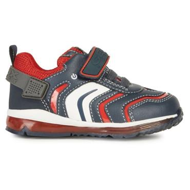 GEOX BOYS VEL LACE RUNNER - NAVY RED