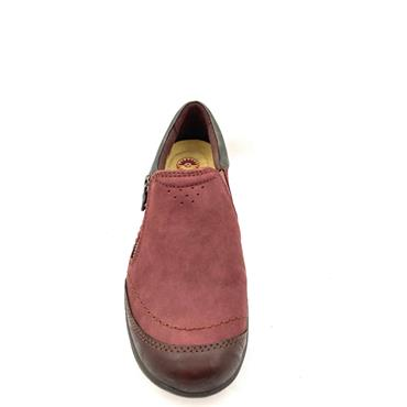 EARTH SPIRIT LDS ZIP SLIP ON SHOE - WINE
