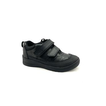 STARTRITE BOYS G FIT VELCRO STRAP SHOE - BLACK