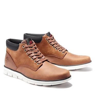 TIMBERLAND MENS MID LACE ANKLE BOOT - BROWN