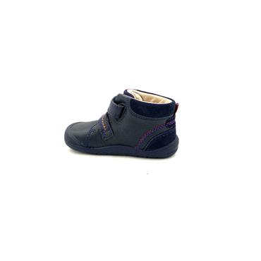STARTRITE BOYS 2 VEL STRAP ANKLE BOOT - NAVY