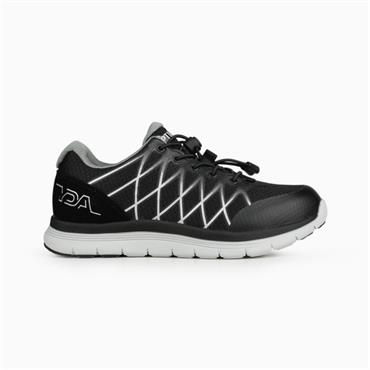 OPTIMA MENS ORTHOTIC LACE TRAINER - BLACK