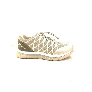 OPTIMA WOMENS ORTHOTIC LACE TRAINER - SILVER