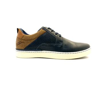 TOMMY BOWE MENS LACE CASUAL SHOE - NAVY TAN