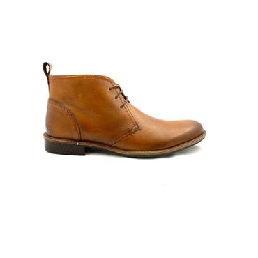 CATESBY MENS 3 EYE LACE ANKLE BOOT - TAN
