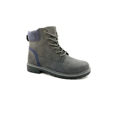 GJK LDS JUMPER TOP TIE ANKLE BOOT - GREY NAVY