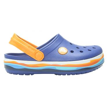CROCS BOYS TOE IN CLOG - BLUE JEANS