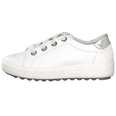 REMONTE WOMENS CHUNKY LACE TRAINER - WHITE