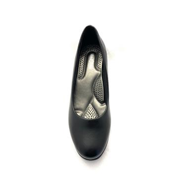 NINE TO FIVE LDS WEDGE COURT SHOE - BLACK