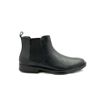 REDTAPE MENS GUSSET SLIP ON BOOT - BLACK