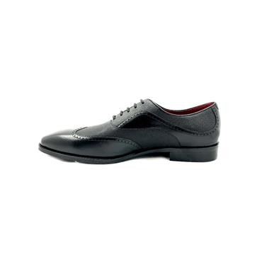 ESCAPE GTS 2 TONE DRESS TIE SHOE - BLACK