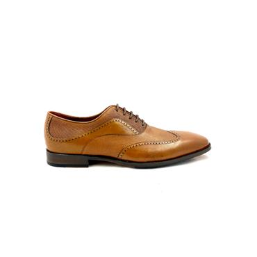 ESCAPE GTS 2 TONE DRESS TIE SHOE - BRANDY