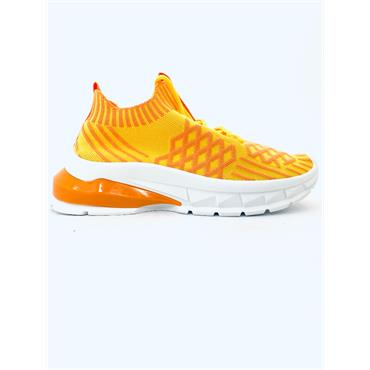 DRILLEYS WOMENS WEDGE LACE TRAINER - YELLOW