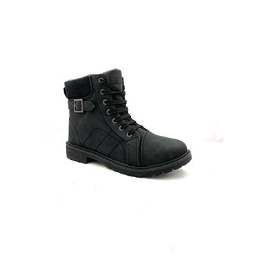 GJK LDS STRAP JUMPER TOP ZIP TIE BOOT - BLACK
