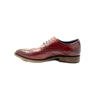 ESCAPE GTS BROGUE TIE SHOE - BORDEAUX