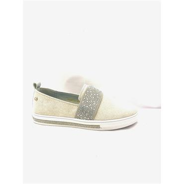 PATRIZIO LDS WEDGE DIAMANTE SLIP ON SHOE - WHITE