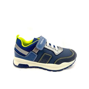 GEOX BOYS VEL LACE RUNNER - NAVY LIME