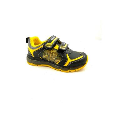 GEOX BOYS TIGER 2 VEL STRAP RUNNER - BLACK YELLOW