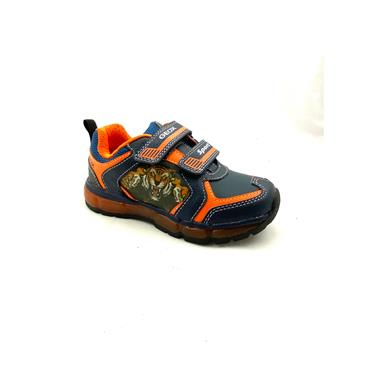 GEOX BOYS TIGER 2 VEL STRAP RUNNER - NAVY ORANGE