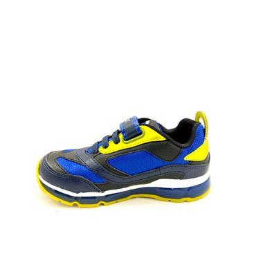 GEOX BOYS VELCRO LACE TRAINER - NAVY LIME