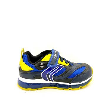 GEOX BOYS VELCRO LACE RUNNER - NAVY LIME