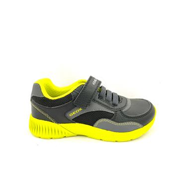 GEOX BOYS VELCRO LACE RUNNER - BLACK LIME