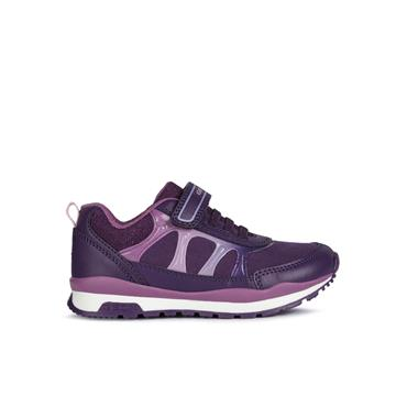 GEOX GIRLS VELCRO LACE TRAINER - VILOET PURPLE