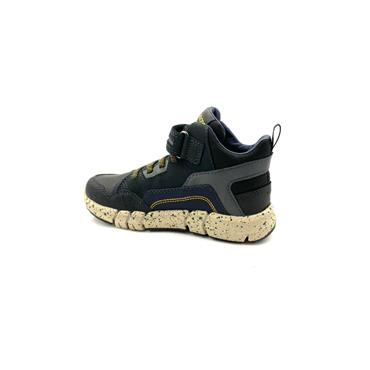 GEOX BOYS AMPHIBIOX VELCRO LACE TRAINER - BLACK GREEN