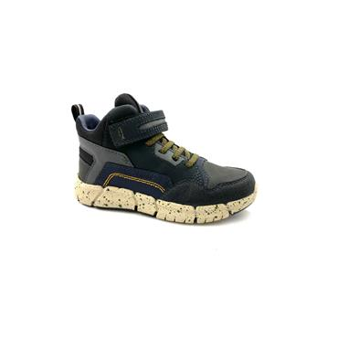 GEOX BOYS AMPHIBIOX VEL LACE HI TOP RNR - BLACK GREEN