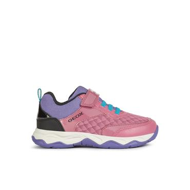 GEOX GIRLS VEL LACE RUNNER - FUCHSIA BLACK