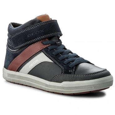 GEOX BOYS STRAP ANKLE BOOT - NAVY BORDEAUX