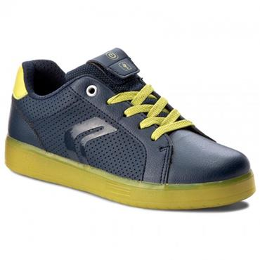 GEOX BOYS RECHARGEABLE TIE RNR - NAVY LIME