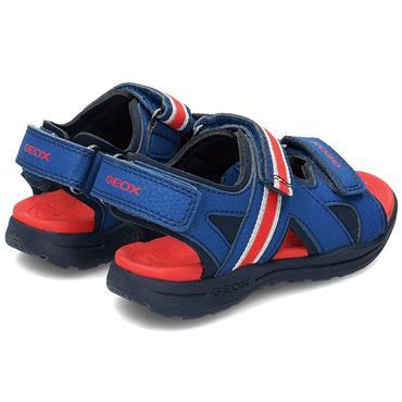GEOX BOYS 3 VEL STRAP SANDAL - BLUE RED