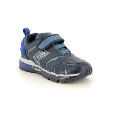 GEOX BOYS LIGHTS VELCRO RUNNER - NAVY BLUE