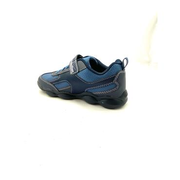 GEOX BOYS VEL STRAP LACE RUNNER - NAVY BLUE