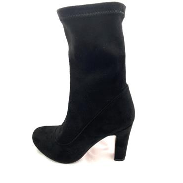 REDZ LDS PULL ON STRETCH ANKLE BOOT - BLACK SUEDE