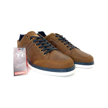TOMMY BOWE MENS LACE CASUAL SHOE - TAN NAVY
