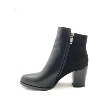 SUSST LDS BLOCK HEEL 2 ZIP ANKLE BOOT - BLACK