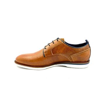 ESCAPE GTS CASUAL 4 EYE TIE SHOE - BRANDY