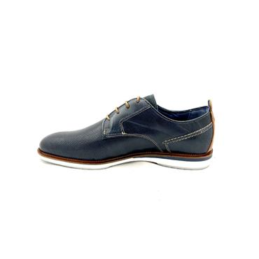 ESCAPE GTS CASUAL 4 EYE TIE SHOE - NAVY