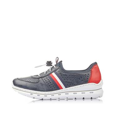 RIEKER WOMENS PULL CORD TRAINER - NAVY RED
