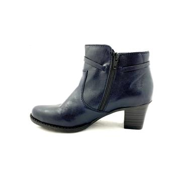 RIEKER LDS STRAP ZIP ANKLE BOOT - NAVY