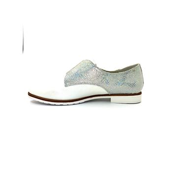 ZANNI WOMENS CROC SLIP ON SHOE - OFF WHITE