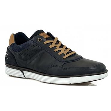 TOMMY BOWE MENS CASUAL TIE SHOE - NAVY TAN