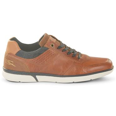 TOMMY BOWE MENS CASUAL LACE SHOE - TAN NAVY