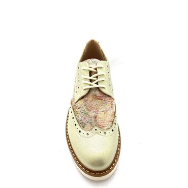 ZANNI WOMENS SUMMER BROGUE LACE SHOE - GOLD MULTI