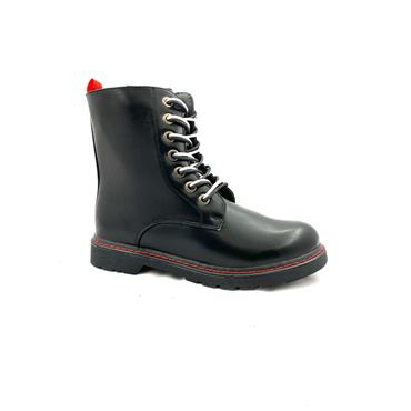 GJK LDS 7 EYE ZIP TIE BOOT - BLACK