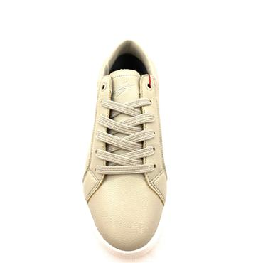 TOMMY BOWE WOMENS LACE TRAINER - GREY WHITE