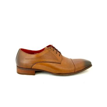 MORGAN GTS T/CAP TIE SHOE - DARK TAN LEATHER